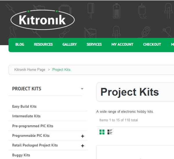 New website - Project Kits