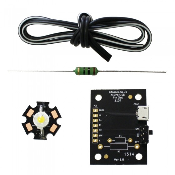 2152_additional_micro_usb_lamp_kit_1w_led_parts