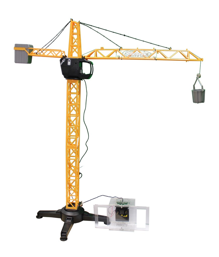 BBC micro:bit controlled crane powered_crane_built_870