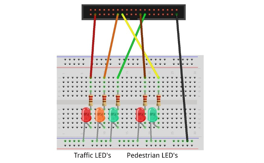 BBC micro:bit Pedestrian Crossing Project -connector-pedestrian-870