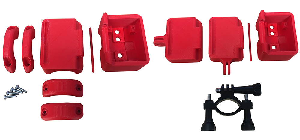 Free 3D Printed Deluxe Rear Bike Light Cases parts