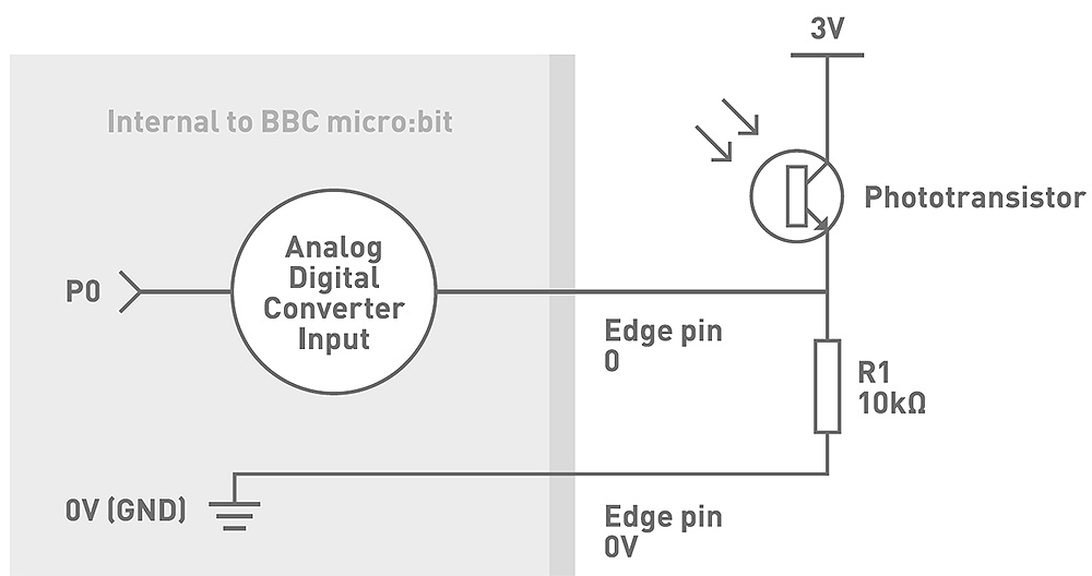 Experiment 2 Using A Light Sensor And Analog Inputs circuit diagram