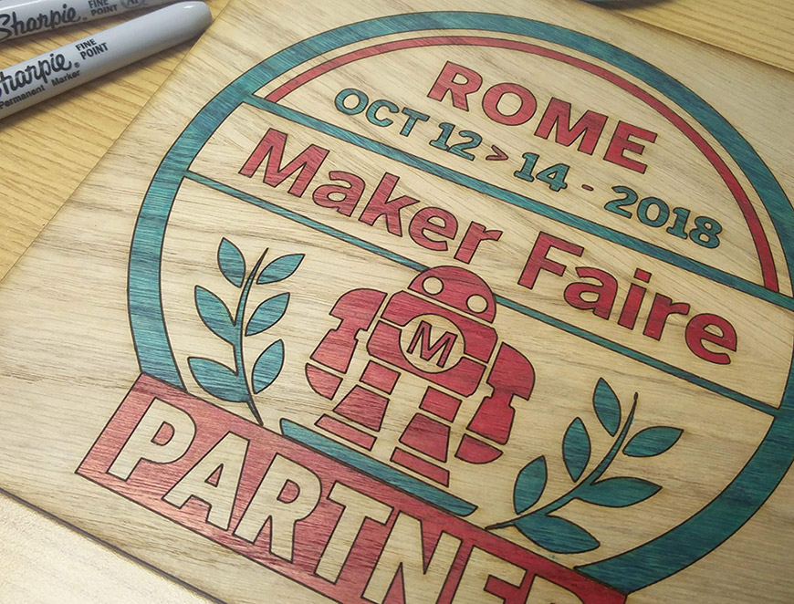 All Roads Lead To Rome Maker Faire 2018 coloured in
