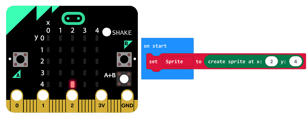 microbit Games - Controlling Movement On The LED Matrix on start 2