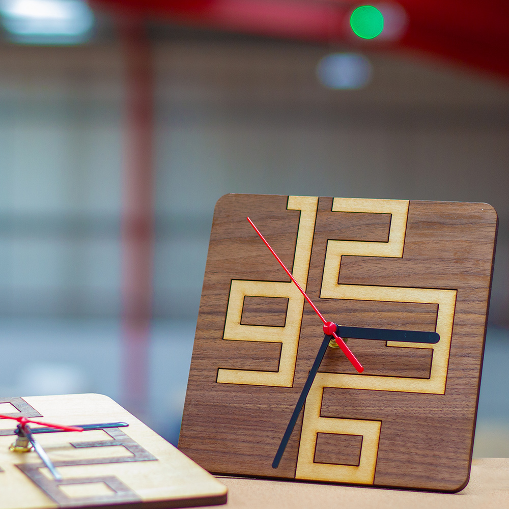 Stylish and Simple Clock Designs for Your Laser Cutter all done
