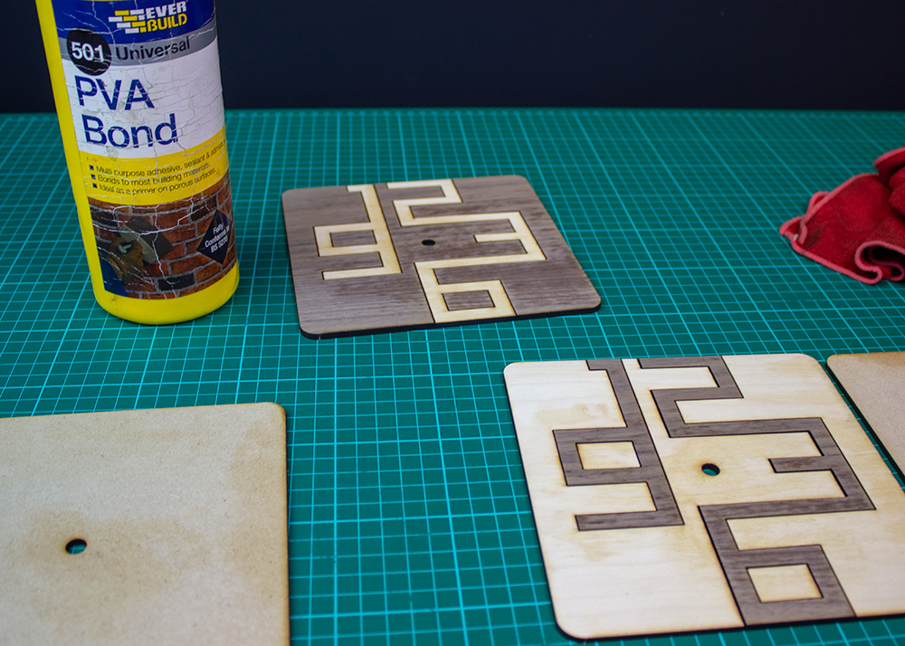 Stylish and Simple Clock Designs for Your Laser Cutter glue