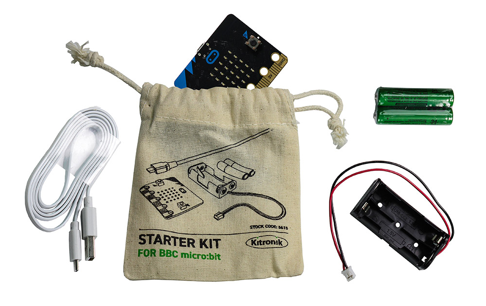 The Absolute Beginners microbit User Guide starter kit power