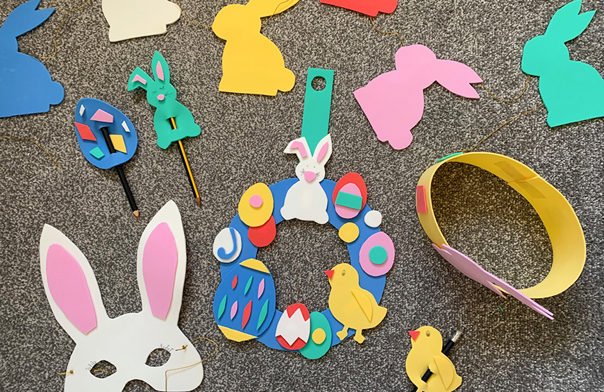 Various Easter crafts using Polyethylene Foam Sheets