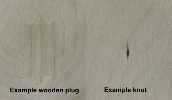 example imperfections laser plywood (laserply)